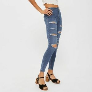TOPSHOP Joni Super High Waisted Ripped Skinny Jean